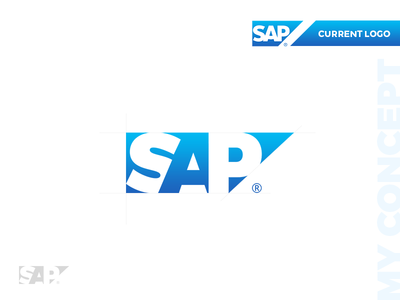SAP Logo Concept negativespace sap branding design