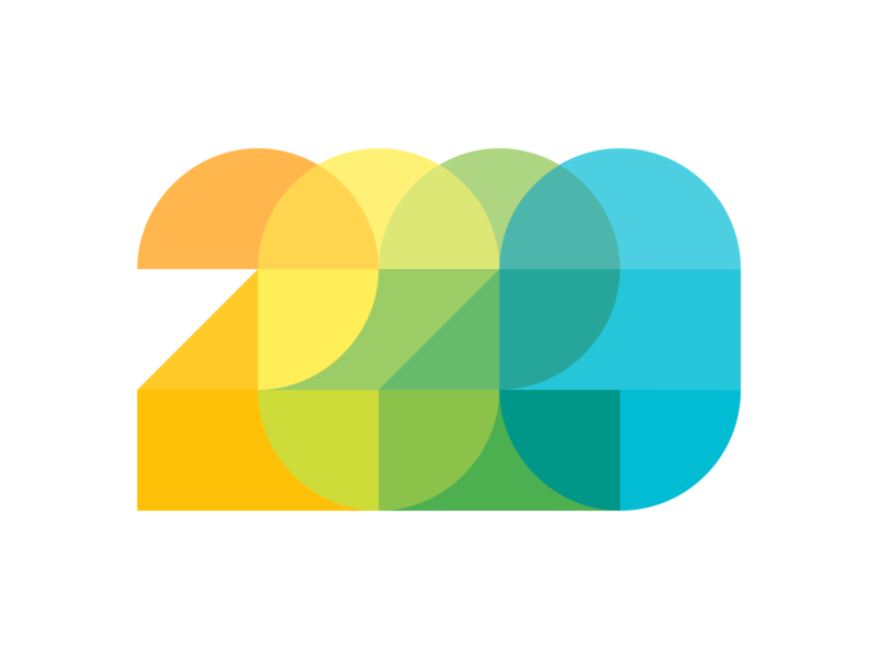 First shot of 2020 trend design ux ui branding illustration vector typography newyear 2020