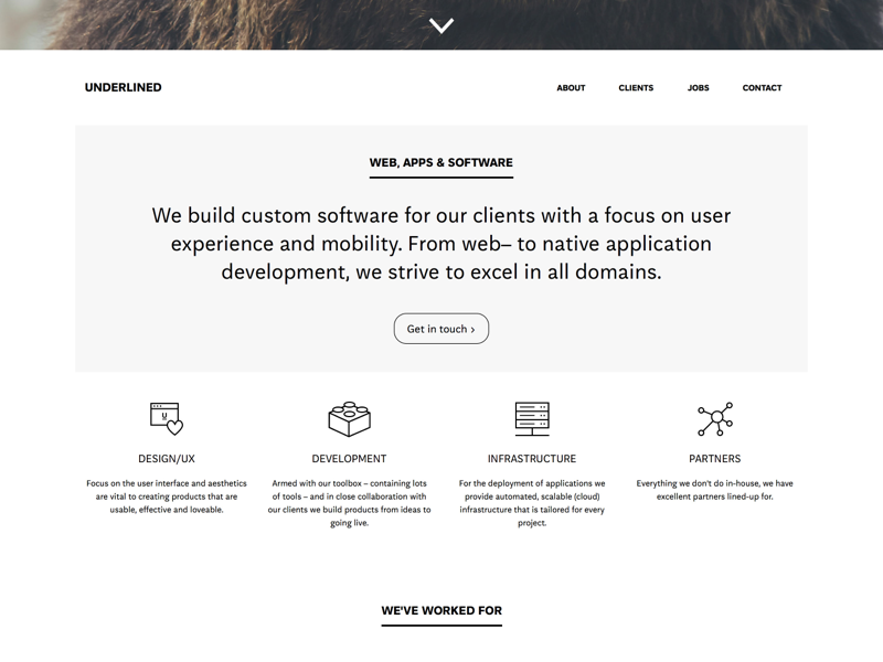 Underlined Site site responsive redesign