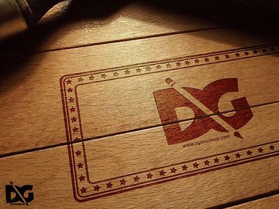 Wood Logo Mockup Template logo design new premium mockup latest