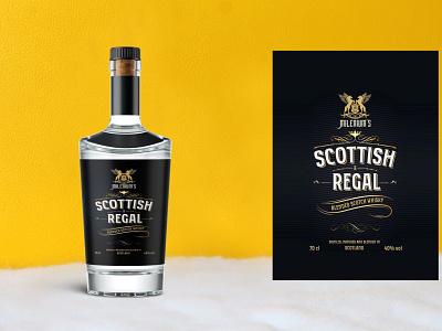 Premium Whisky Bottle Mockup psd illustration design new latest mockup bottle whisky premium
