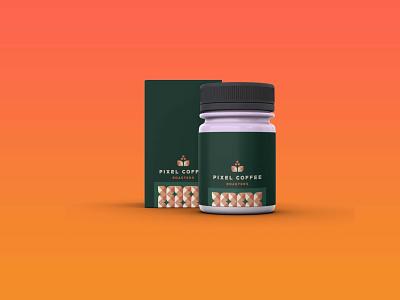Pixel Coffee Branding Mockup psd premium new latest mockup branding coffee pixel