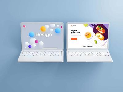MacBook View Mockup branding graphic design showcase view imac mockup macbook mockup illustration 2020 psd new premium mockup latest design laptop imac macbook