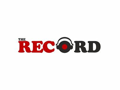 The Record Café logo graphicdesign design