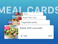 Meal cards