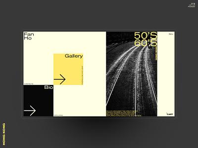 Fan Ho Photography typography flat minimal fan ho interaction web design concept web website ui ux