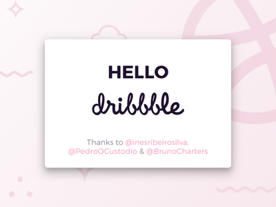 Hello Dribbble card shot first debut dribbble hello