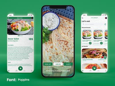 Food order mobile app ui graphic design