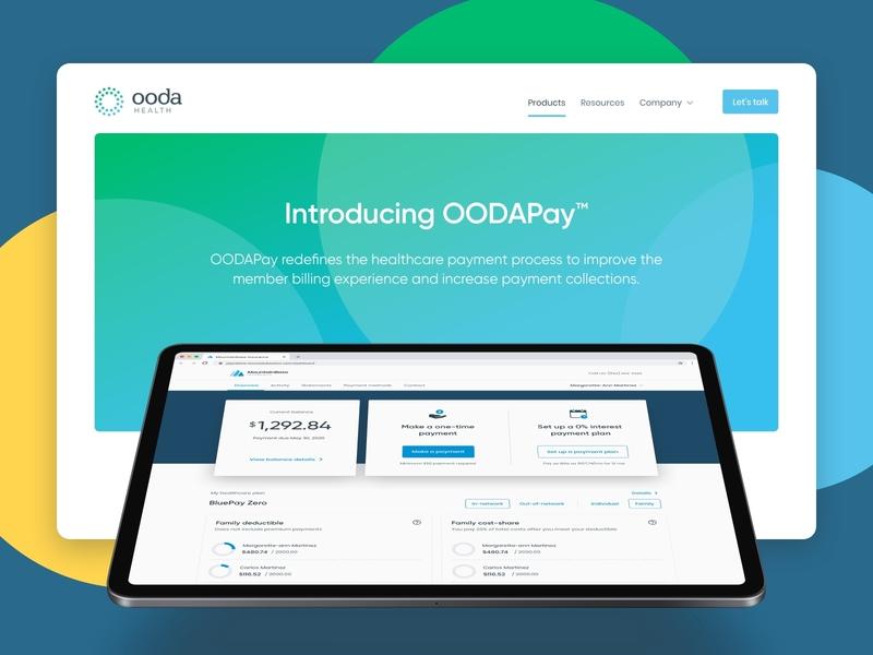 OODA website landing page page landing responsive desktop homepage webpage ui design ui web design website web minimal product design clean brand design brand healthcare health