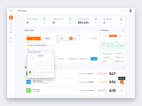 Time tracking tool data web design web ux ui stats statistics freelance remote projects time management time tracking time graph dashboard charts app product design clean