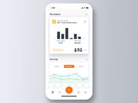 Time tracking dashboard dashboard ui dashboad flat interactions interaction design interaction ux ui stats statistics time tracking time graph dashboard charts app product design clean