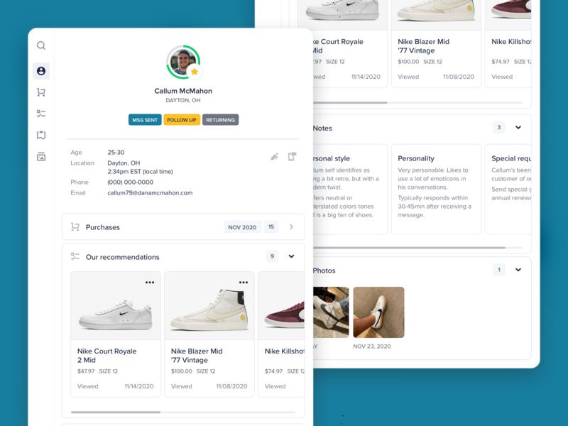 Customer profile shoes ecommerce app ecommerce design ui design white web design web desktop shopping ecommerce profile cards search graph dashboard seo app product design clean