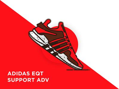 Adidas EQT support ADV sneakerhead adidas originals adidas shoes eqt illustration sneaker