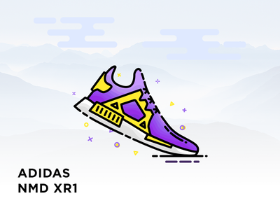 Adidas NMD XR1 xr1 nmd illustration mbe sneaker shoes adidas