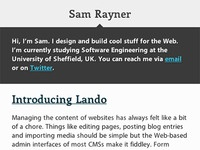 SamRayner.com v2 - Mobile