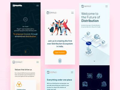 Web Responsive ui design popular web interface redesign mobile app product design landingpage uiux design website responsive