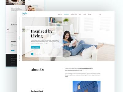 Crafty Interior Homepage Design