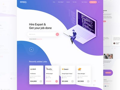 Find your Job & Hire Expart Landing Page