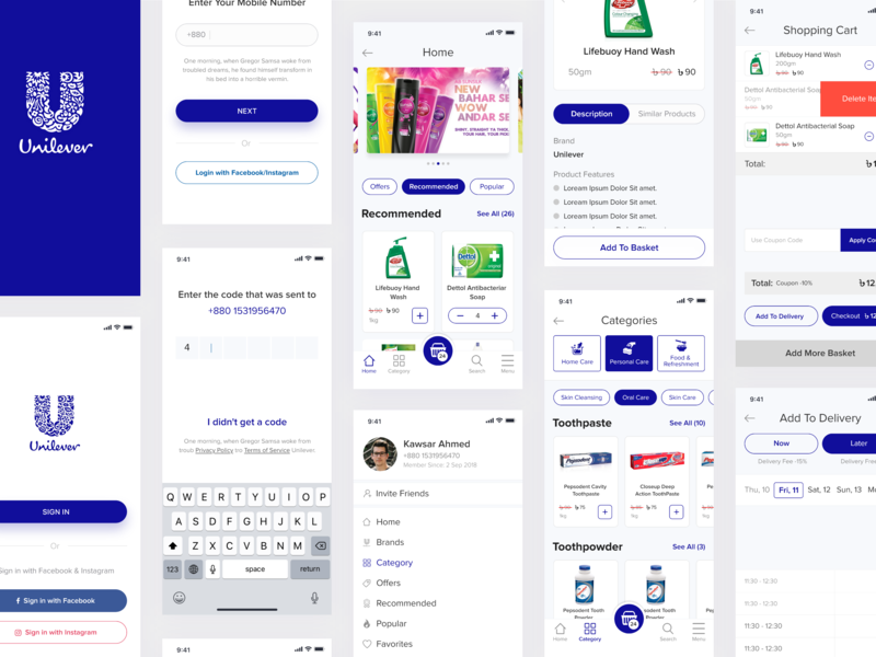 Unilever Ecommerce Mobile App [Concept] AXD product cart concept unileverbd bangladesh webdesign unilevermobileapp lux google bdecommerce bd interfacedesign uxdesign appdesign unileverproduct android iosapp app mobile unilever