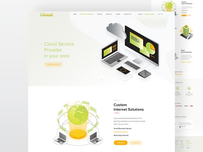 Cloud Service Website interface design provide solutions app cloud home service business pricing internet iptsp hosting design ux ui website cloudservice