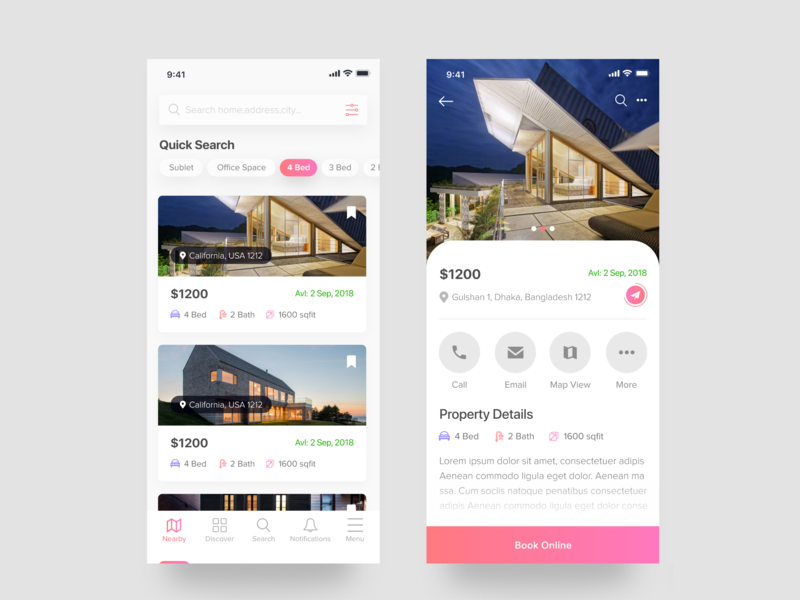 Find Your Home App design userexperience userfriendly userinterface details web apps dashboard device mobile mahin android iphone google search homefinder finder