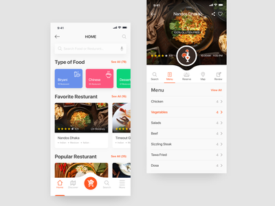 Nearby Food And Resturant Profile userinterface plan meal app iphone x app search pin review menu favorite minimal google eat popular nearby sushi nandos resturant resturantprofile food