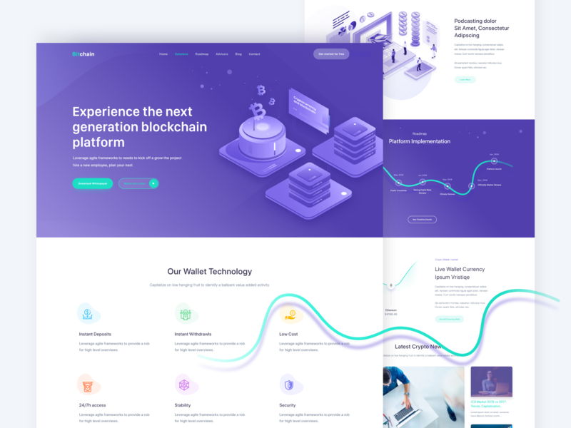 Crypto Landing Page webdesign token crypto exchange crypto currency product landing interface feature designsystem dashboard apps design illustration popular web uidesign uiux ico currency crypto