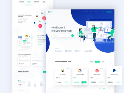 Hire Experts & Find your job typography product design client agency jobfinder storetasker dashboard findyourjob website illustration webdesign interface app ux ui web designsystem landing hire joppost