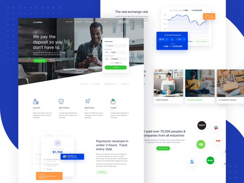 Money Transfer Website typography product design wallet webdesign userinterface productdesign interaction moneysend apps money management designsystem card dashboard ux ui takawise abroad payment website moneytransfer