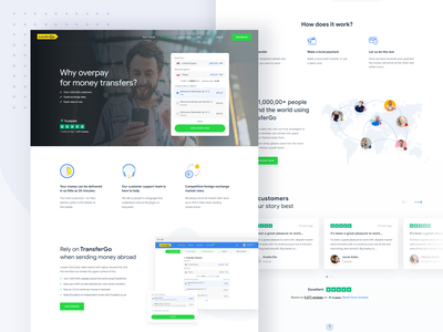 Transfergo Website Redesign Concept typography product design walletredesign ux finance web dollar currency designsystem websiteredesign redesign money userinterface website payment onlinepayment wallet paymentmethod moneytransfer transfergo