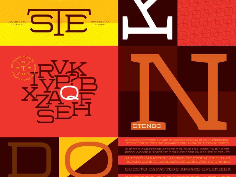 Stendo—Type Specimen type stendo extended colorful orange seth taylor
