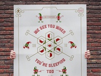 Ek christmass card poster open