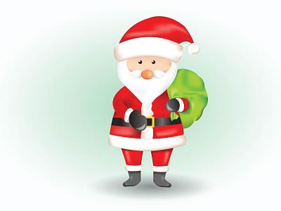 Santa Claus illustration celebration holiday winter design cartoon illustration christmas card illustraion santa claus