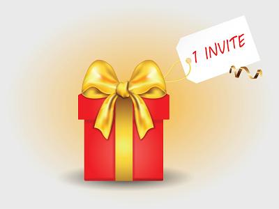 Invite for you gift designer invite invitation invite dribble