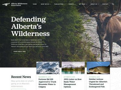 Rebound - Alberta Wilderness Association calgary alberta canada landing page marketing environment web design