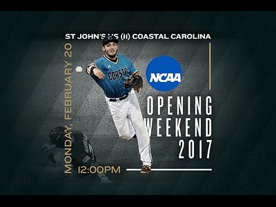 February 20 - St John's vs Coastal Carolina coastal carolina st johns sports design graphic design gameday baseball