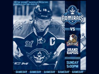 March 19 - Grand Rapids Griffins vs Milwaukee Admirals