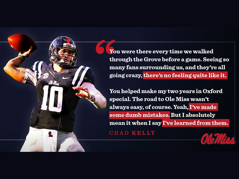 new style d89ec a58e7 Ole Miss Football - Chad Kelly Quote by Tim Hamilton on Dribbble