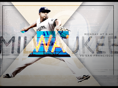 June 5 - Giants vs Brewers sports design gameday graphic design baseball brewers milwaukee