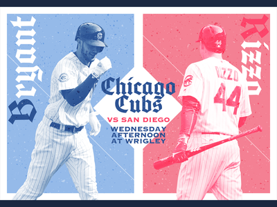 June 21 - Padres at Cubs gameday sports design graphic design baseball cubs chicago