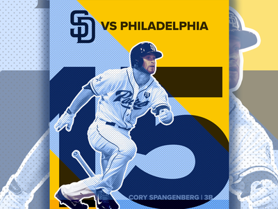August 15 - Padres vs Phillies sports design graphic design gameday baseball padres san diego