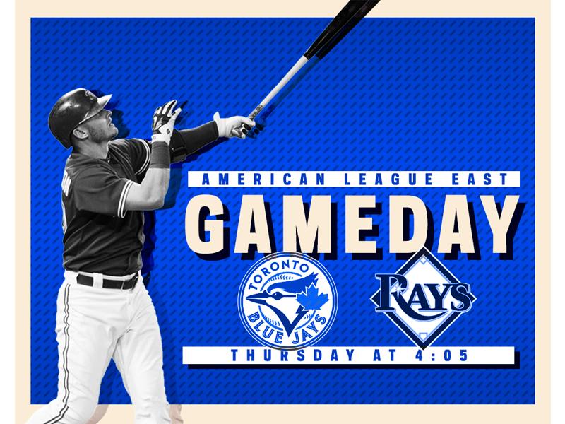 August 17 - Jays vs Rays sports design graphic design gameday baseball toronto blue jays