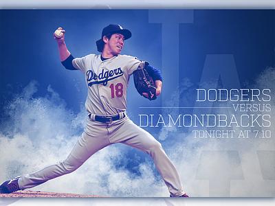 September 6 - Dodgers vs Diamondbacks sports design graphic design gameday baseball dodgers los angeles