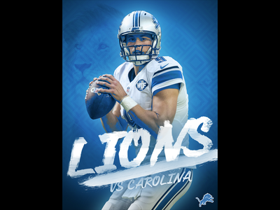 October 8 - Lions vs Panthers sports design graphic design gameday football lions detroit