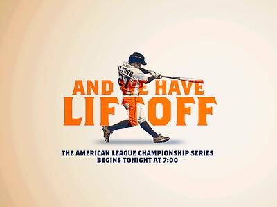October 13 - ALCS Game 1 sports design graphic design gameday baseball astros houston
