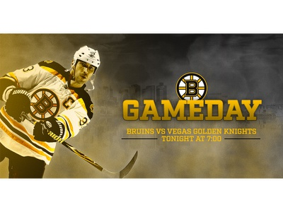 November 2 - Boston Bruins vs Vegas sports design graphic design gameday hockey bruins boston