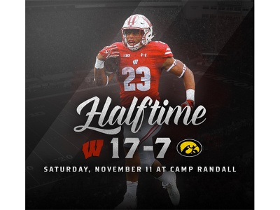 November 11 - Badgers vs Iowa sports design graphic design gameday college football football badgers wisconsin