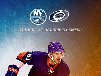 November 16 - Islanders vs Hurricanes sports design graphic design gameday islanders new york hockey