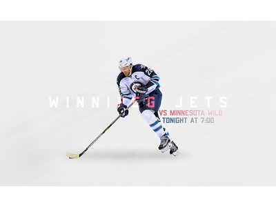 November 27 - Jets vs Wild sports design graphic design gameday hockey jets winnipeg