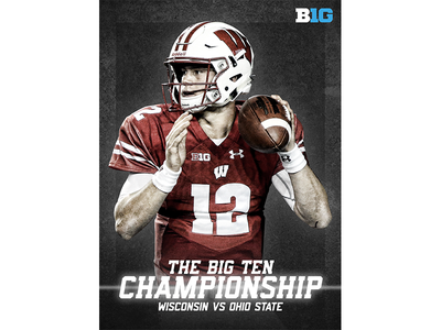 December 2 - Wisconsin vs Ohio State sports design graphic design gameday badgers wisconsin college football